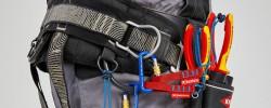 Los alicates anticaída VDE y pelatubos corrugados Twist Cut de Knipex garantizan la seguridad y eficacia