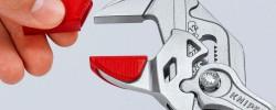 Las suaves mandíbulas protectoras de los alicantes de Knipex protegen las superficies delicadas