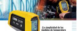 La tecnología de infrarrojos del termómetro C.A 1862 de Chauvin-Arnoux ofrece mayor precisión