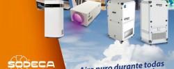 Tecnología de luz ultravioleta UVc Sodeca para la limpieza y desinfección del aire