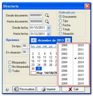 CalendarControl