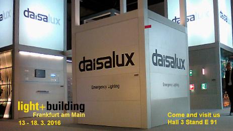 Daisalux y la evolución de las luminarias de emergencia en Light & Building 2016