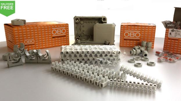 La gama de productos sin halógenos de OBO, permite reducir las lesiones en caso de incendio