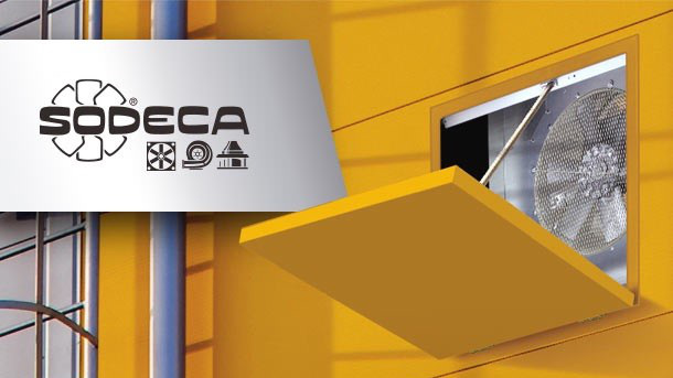 Sodeca nos presenta un nuevo concepto en sistemas de ventilación de compuertas