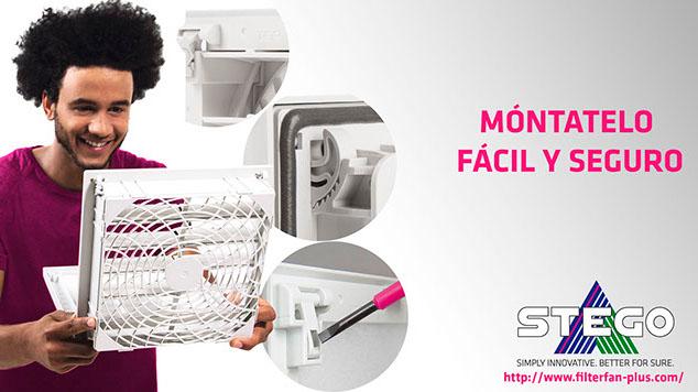 El nuevo ventilador con filtro plus de STEGO ofrece un mayor flujo de aire