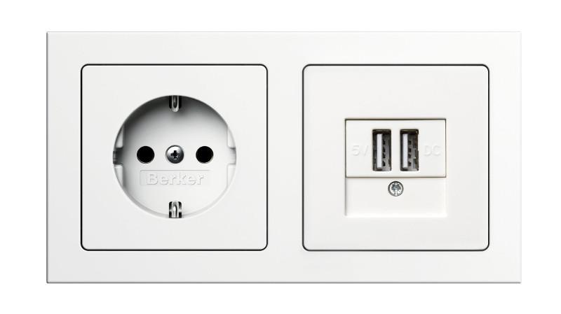 Toma SCHUKO® con USB de Hager es una solución compacta dos en uno
