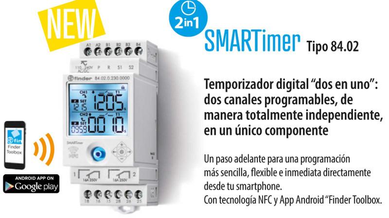 SMARTimer es el último temporizador digital de Finder con programación NFC
