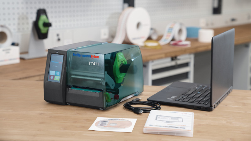 Llega la nueva generación de impresoras de transferencia térmica más intuitivas de HellermannTyton