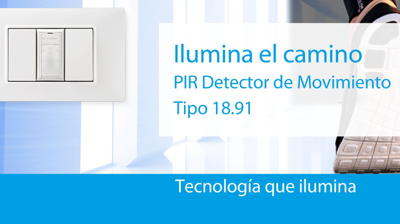 El nuevo detector de movimiento ultra-compacto Tipo 18.91 de Finder ilumina el camino