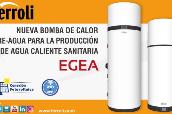 La nueva bomba de calor aire-agua EGEA de Ferroli