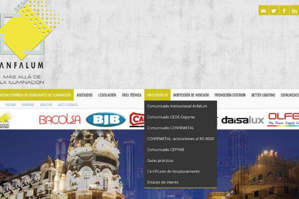 ANFALUM habilita un espacio web dedicado al COVID-19