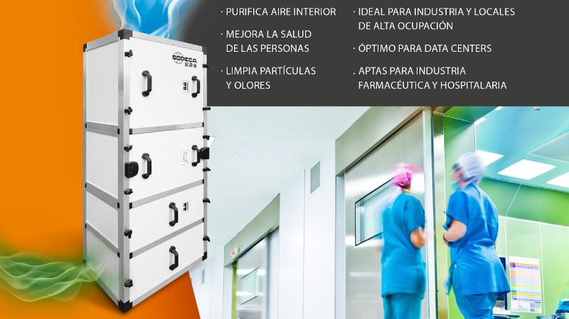 nuevas unidades purificadoras de aire de Sodeca