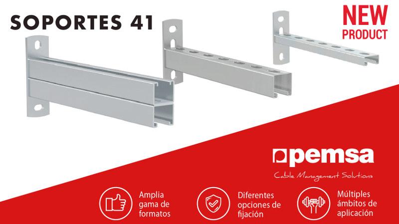 Los nuevos soportes 41 de Pemsa destacan por su gran versatilidad de aplicación e instalación