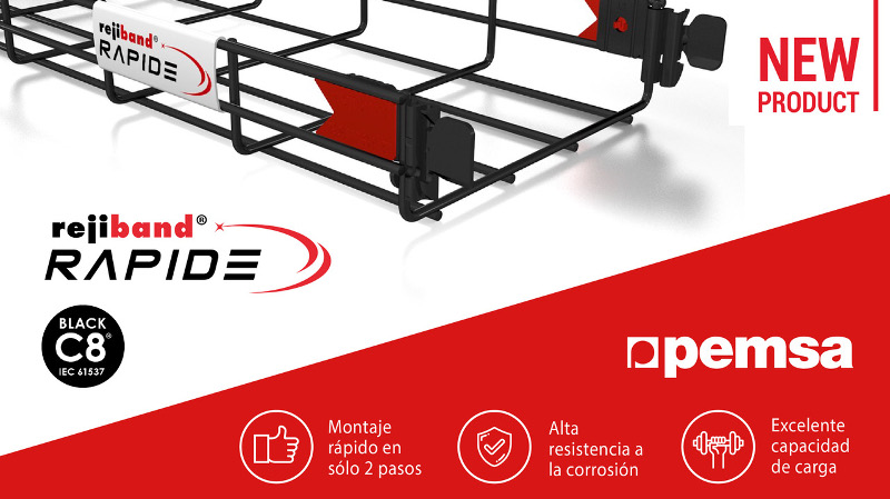 Rejiband Rapide Black C8 es la nueva bandeja de Pemsa