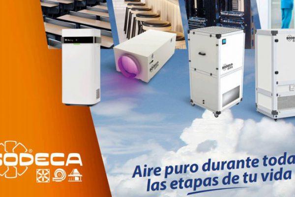 Tecnologia de luz ultravioleta UVc Sodeca para la limpieza y desinfeccion