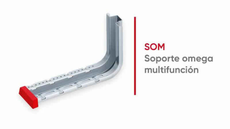 El soporte omega multifunción de Aiscan permite ahorrar tiempo en la instalación