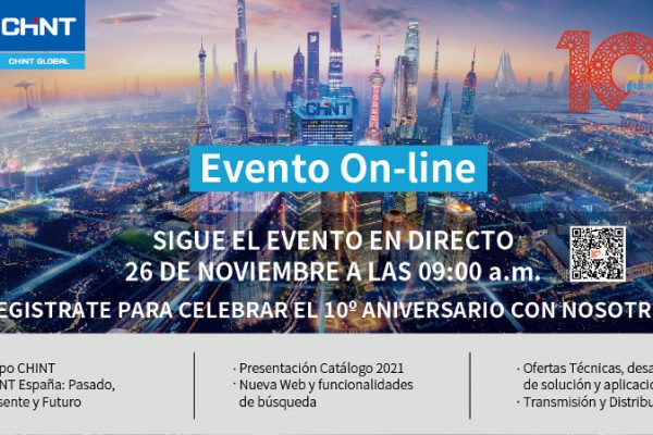 Chint Electric celebra su décimo aniversario con un evento online