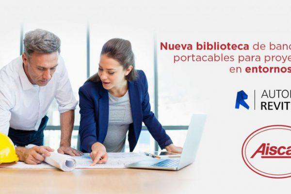 Aiscan: Nueva biblioteca de bandejas portacables para proyectos en BIM