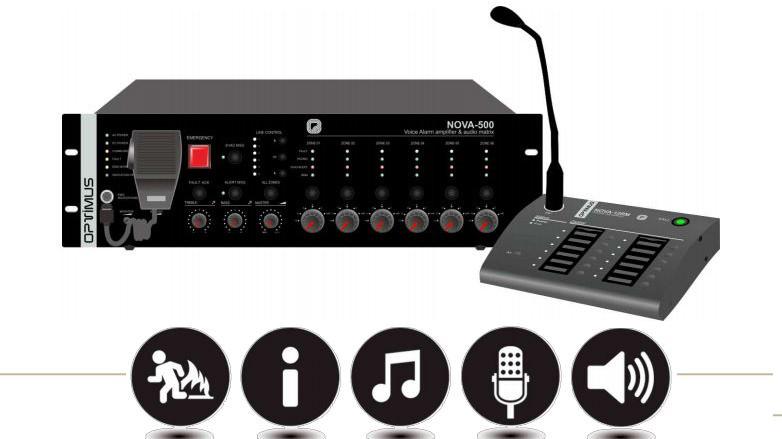 NOVA system nuevo sistema de megafonia y alarma por voz de Optimus