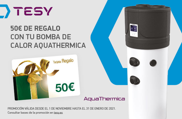 TESY lanza una promoción a cliente final por la compra de AquaThermica