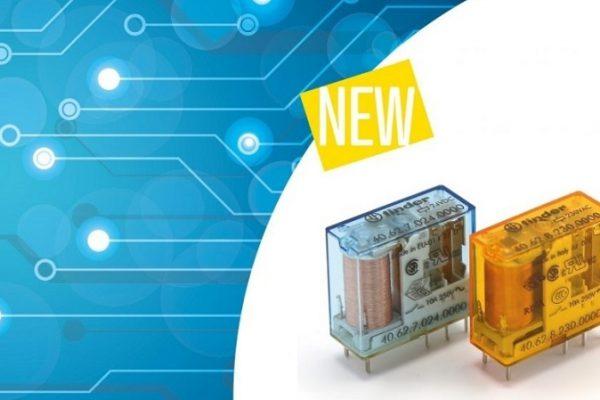 Finder lanza al mercado un mini relé para circuito impreso y enchufable