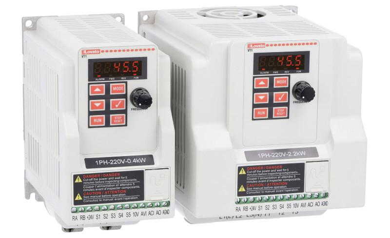 Nuevos variadores de frecuencia monofásicos VT1 de Lovato Electric