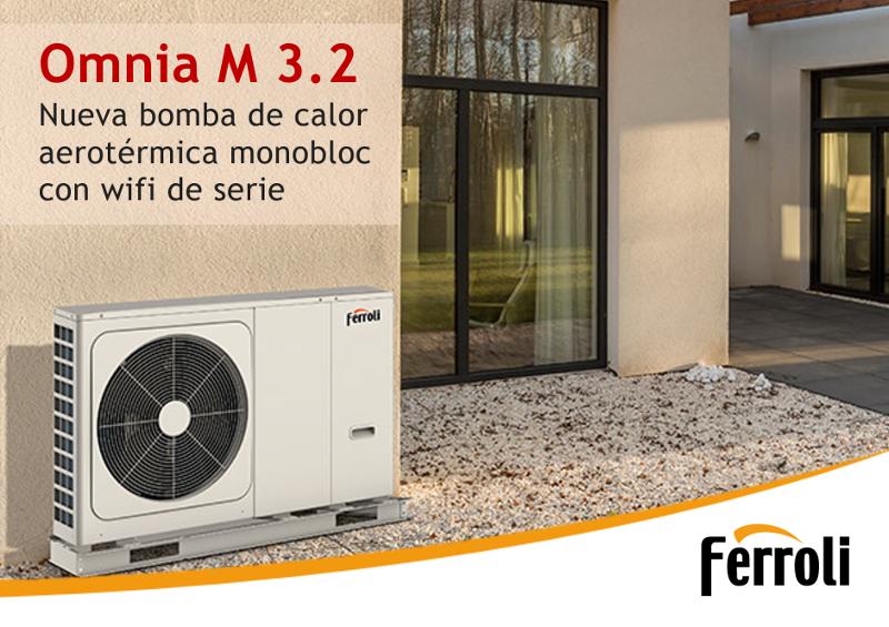 Omnia M 3.2, nueva bomba de calor aerotérmica monobloc de Ferroli