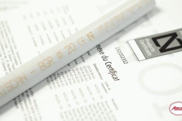 Los tubos rígidos de Aiscan están certificados por AENOR