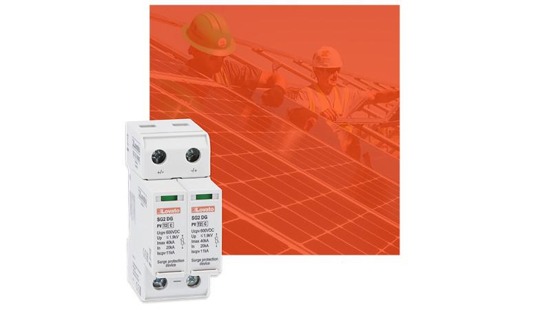 Descargadores de sobretension para aplicaciones fotovoltaicas de Lovato