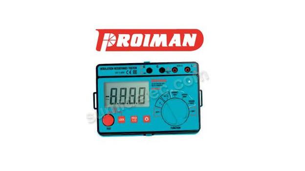El medidor de aislamiento Proiman destaca por su precision y sencillez